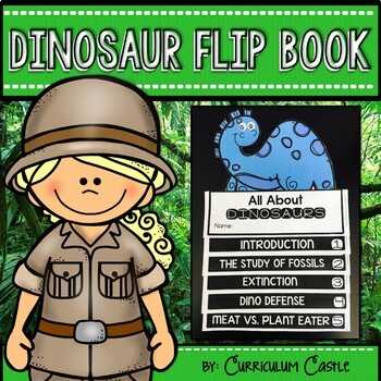 Dinosaurs Flip Book {Reading Comprehension & Craft}