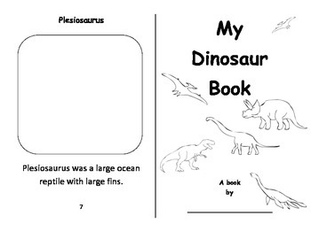 Dinosaurs - Foldable book - Color, Cut , and Paste
