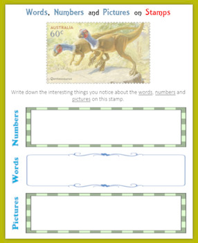 Dinosaurs:  Fun with Postage Stamps