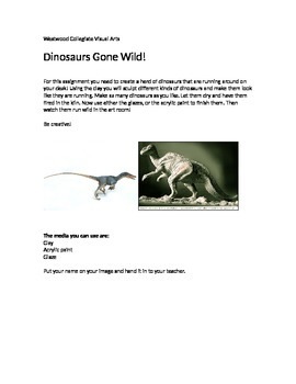 Dinosaurs Gone Wild!- Special Needs