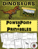 Dinosaurs Informational PowerPoint Editable + Activities (Math + Literacy)