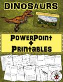 Dinosaurs Informational PowerPoint Editable + Activities (