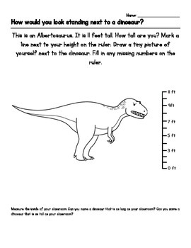 Dinosaurs - Worksheets, Assignments and Materials for Primary Grades