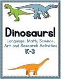 Dinosaurs - Worksheets, Assignments and Materials for Prim