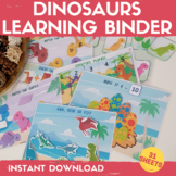 Dinosaurs Learning Binder Preschool Centers Activities Din