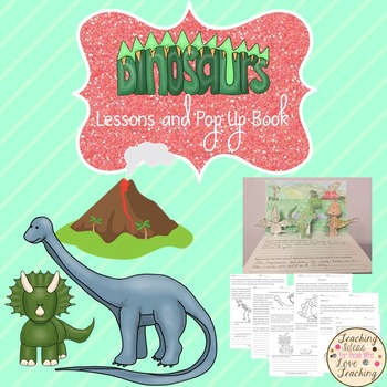 Dinosaurs Distance Learning Activities and Coloring Diorama Pop up Book