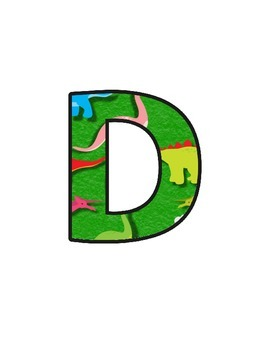 Dinosaurs Lettering (upper/lowercase, cursive, numbers, shapes, symbols)