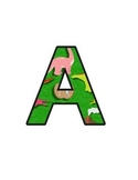 Dinosaurs Lettering (upper/lowercase, cursive, numbers, sh