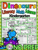 Dinosaurs Worksheets-Literacy, Math and Science dinosaur worksheets NO PREP CCSS