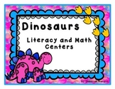 Dinosaurs Literacy and Math Centers