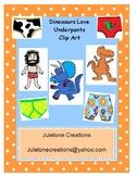 Dinosaurs Love Underpants Clip Art Packet