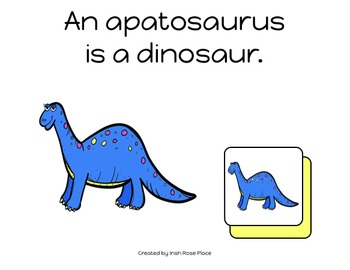 Dinosaurs Matching Book (Adapted Book)
