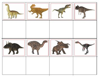 Dinosaurs:  Matching and Memory Game