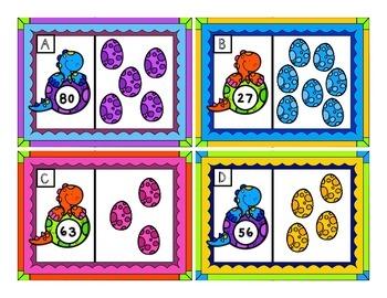 Dinosaurs Math Centers (Set 2)