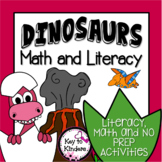 Dinosaurs Math and Literacy Plus 5 No Prep