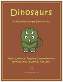 """Dinosaurs"" Math and Literacy Unit - Aligned with Common Core Standards"