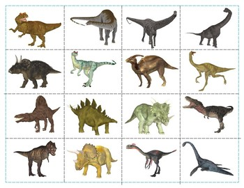 Dinosaurs :  Mini Shadow Matching Cards