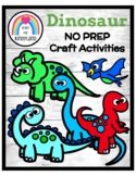 Dinosaurs NO PREP Craft Pack: T-Rex, Brontosaurus, Pteroda