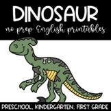 Dinosaurs No Prep Printables English Language Arts