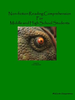 Non-fiction Reading Activities for Middle School and High School: Dinosaurs