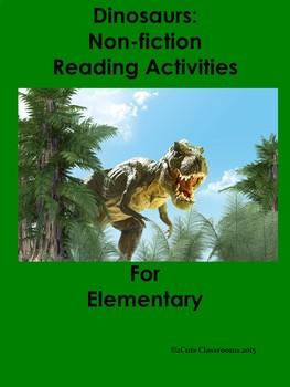 Dinosaurs: Bellringers/Reading Comprehension Activities