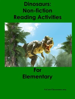 Non-fiction Reading Comprehension Activities for Lower Ele