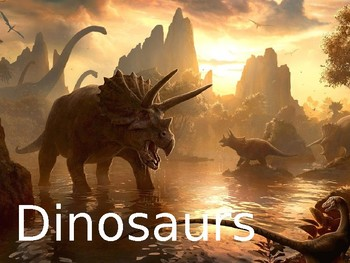 """Dinosaurs Nonfiction PowerPoint """"Book"""" for First or Second Grade"""
