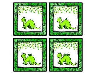 Dinosaurs Number Match Up Math Center