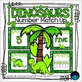 Dinosaurs Number Match Up Math Center