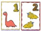 Dinosaurs Numbers Flash Cards