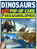 Dinosaurs: Parasaurolophus Pop-Up Card