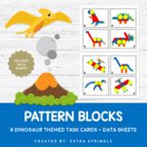 Dinosaurs Pattern Blocks Task Cards + Data Sheets