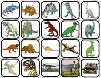 """Dinosaurs"" Picture Matching/Flashcards/Memory Game for Autism"