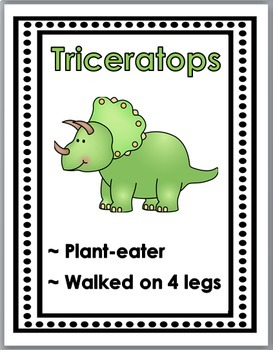Dinosaurs Science Word Wall Posters