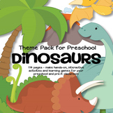 Dinosaurs Theme Pack Math and Literacy Centers for Preschool and Pre-K