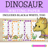 Dinosaurs: Primary Writing Paper with Picture Boxes & Without