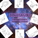 Dinosaurs Printable Full-Page Outline / Template / Coloring Sheet for ALL Grades