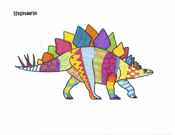 dinosaurs printable full page outline template coloring sheet
