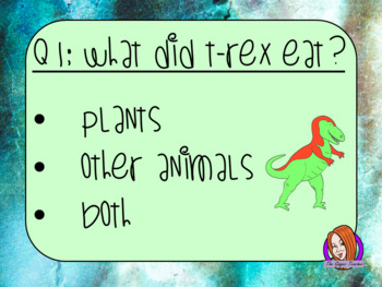 Dinosaurs Quiz   -  Paperless digital resource Interactive PDF Freebie