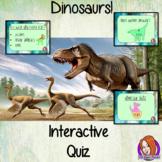 Dinosaurs Quiz   -  Paperless digital resource Interactive PDF Freebie
