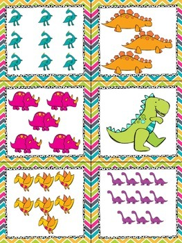 Dinosaurs! Read, Write, and Count the Room {Literacy and Math Center} {CCSS}