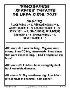 Dinosaurs Readers' Theater! - Unit 1 (K & 1st Grades)
