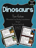 Dinosaurs Literacy Centers Nonfiction Reading Comprehensio
