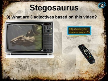 Dinosaurs: STEGOSAURUS - Ten facts in a dynamic, interactive PPT