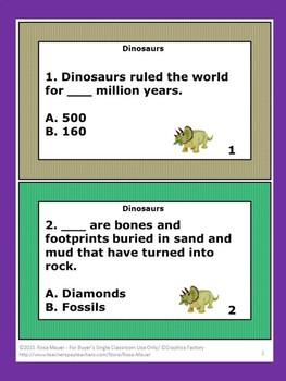 Dinosaurs Task Cards