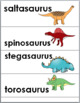 Dinosaurs Science Word Wall