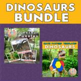 Dinosaurs Shapes Printable Puzzles & Math Blocks Pattern T