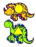 Dinosaurs Shapes for Preschool and Pre-K 12 Large Dinosaurs