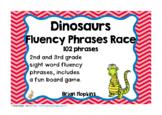 Dinosaurs Sight Word Fluency Phrases Race