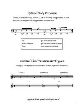 Dinosaurs: SATB A-Cappella Arrangement, Original Tune Without Words in Phrygian